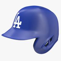 3d model baseball helmet rawlings los angeles