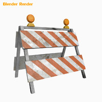 road barrier ready 3d max