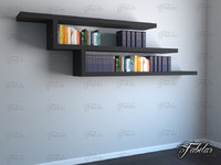 3d bookshelf mentalray reading model