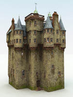 3d scottish castle