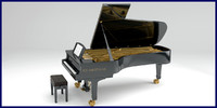 Grand Piano with rig and full interior