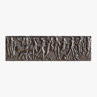 greek bas-relief 3d model
