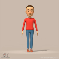 man cartoon 3d model