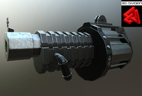 sci-fi rifle obj