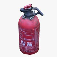 3d extinguisher scan model