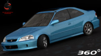 3d model honda civic si coupe