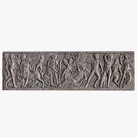 3d greek bas-relief model