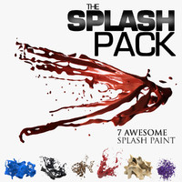 3d model splash paint set