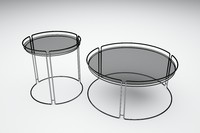 3d model metallic tables