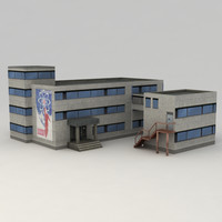industrial building 3d model