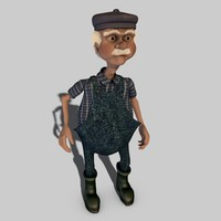 3d old man toon