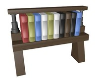 3d model lego bookcase