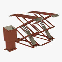 Automotive Scissor Lift Generic Rigged