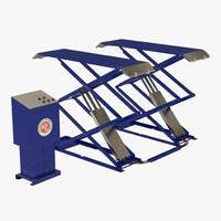 automotive scissor lift rigged 3d max