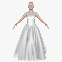 3d dress female model