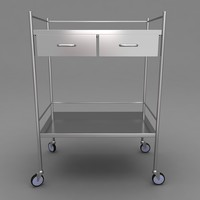 3d max medical equipment trolley