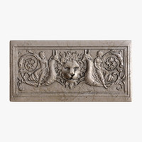 greek bas-relief lion 3d obj