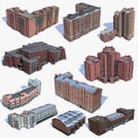 10 Low Poly Houses Set 03