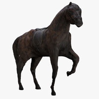 horse scanned sculpture animations dxf