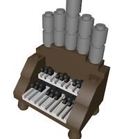 3dsmax lego organ piano