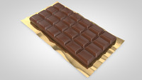 chocolate bar 3d c4d