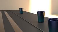 3d - cup blue model
