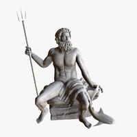 3dsmax statue poseidon