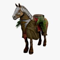 horse robe plants 3d model