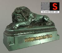 lion statue vienna 3d max