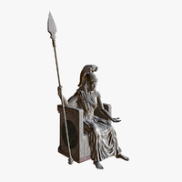 3d statue athena model