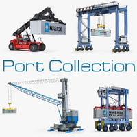 port equipment terex noell 3d model