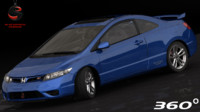 3d obj honda civic si coupe