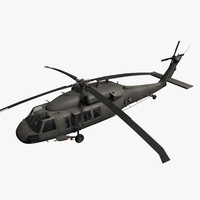 3d model generic blackhawk black hawk
