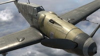 3d model bf-109 german fighter