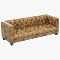 restoration hardware savoy leather sofa 3d model