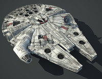 3d star wars millennium falcon