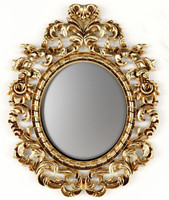3d baroque oval frame model