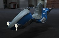 concept hover bike retro 3d model