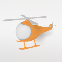 helicopter toy 3d 3ds