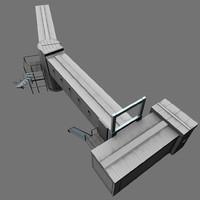 3d real-time jet bridge model