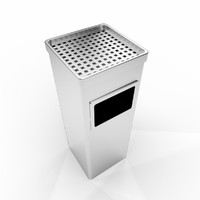 ashtray bin fbx