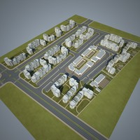 residential community 3d model