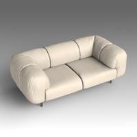 leather sofa 3d fbx