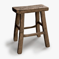 Vintage Square Wooden Stool