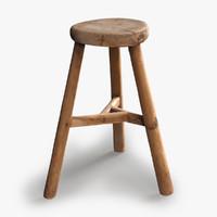 vintage wood stool max