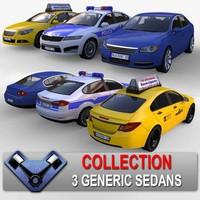 3ds max generic sedan