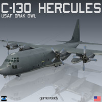 dark owl recon lockheed c-130 3d 3ds