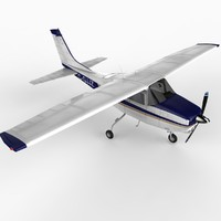 3ds max small single prop airplane