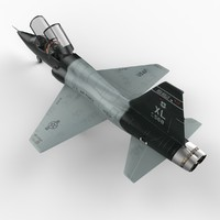 t38c t-38 jet trainer 3d model