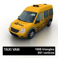 Low Poly Taxi Van